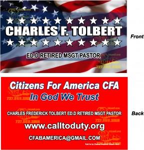 Charles Frederick Tolbert DivM, EdM, EdD, Pastor , Retired MSGT